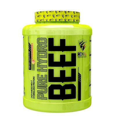 PURE HYDRO BEEF 2 kg CHOCOLATE AVELLANA 3XL NUTRITION PROTEINA DE CARNE BOVINA