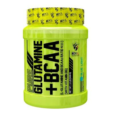 PURE GLUTAMINA + BCAA 500gr sabor BLUE LIGHT 3XL NUTRITION CONSTRUCTOR MUSCULAR