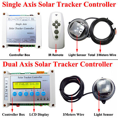 Complete Single/Dual Axis Solar Tracker Electronic Controller for Sun Tracking