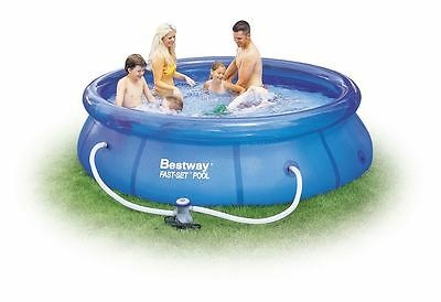 Bestway 10ft x 30in Garden Outdoor Fast Set Swimming Pool With Filter Pump