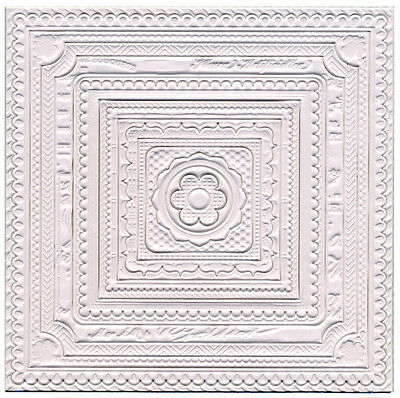 3D Square Ceiling Decorations Stickers 16 Pieces, Dolls House Miniature