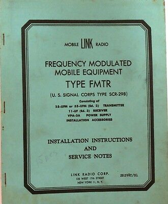 Link Radio Installation Instructions and Service Notes Type FMTR (Original)
