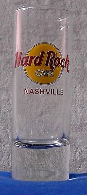 Hard Rock Cafe Tall Shot Glass Nashville Tennessee red letters