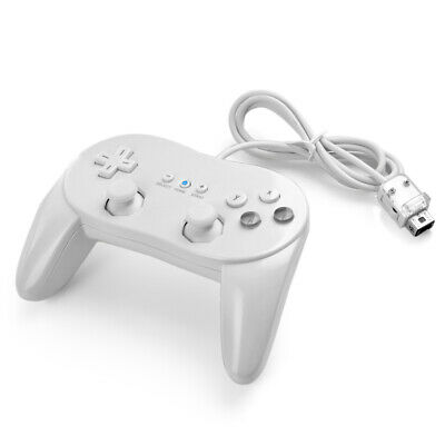Pro Classic Game Controller Console Joypad For Nintendo Wii Video Remote White