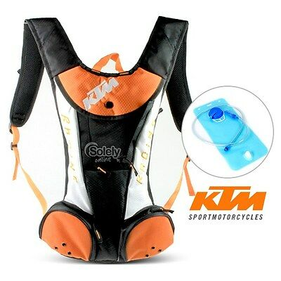 2L KTM Hydration Water Bag Pack Backpack Rucksack Cycling Hiking Camping Bladder