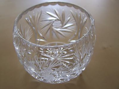 VINTAGE  BOHEMIAN HAND CUT GLASS / CRYSTAL BOWL
