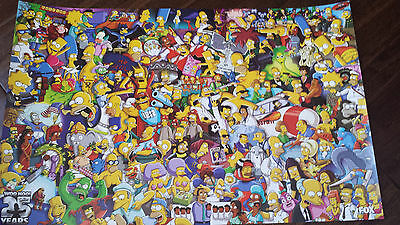 2014 SDCC COMIC CON EXCLUSIVE FOX POSTER THE SIMPSONS WOO HOO 25 YEARS BART