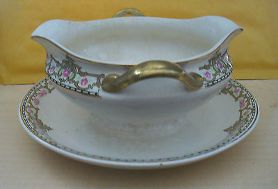 GRAVY BOAT & ATTACHED DISH (CHINA)