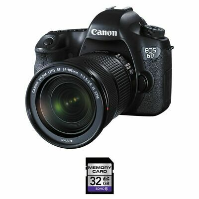 Canon EOS 6D DSLR Camera w/EF 24-105mm f/3.5-5.6 IS STM Lens + 32GB Card