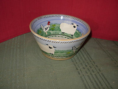 New Nicholas Mosse Landscape Animal Small Angle Bowl - 6 inches wide
