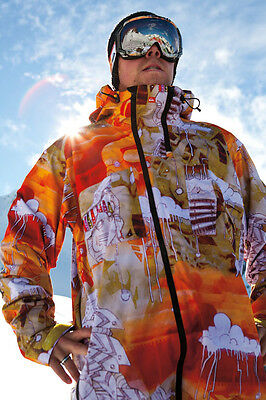 Quiksilver Travis Rice Signature Collection Jacket by Ruckus *GUC* Size M
