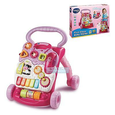 Vtech First Steps Baby Activity Toy Walker For Girls - Pink