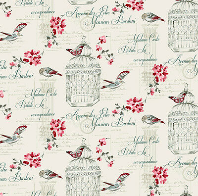 Dolls House Wallpaper 1/12th 1/24th scale Birds Quality Paper #307