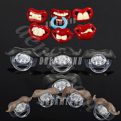16 Styles Baby Pacifier Dummy Teether Pacy Orthodontic Silicone Funny Nipples