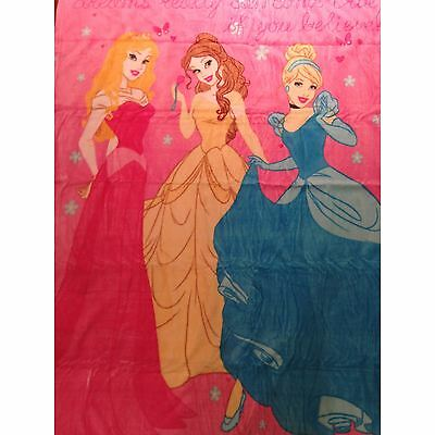 Disney Princess Large Coral Fleece Blanket New