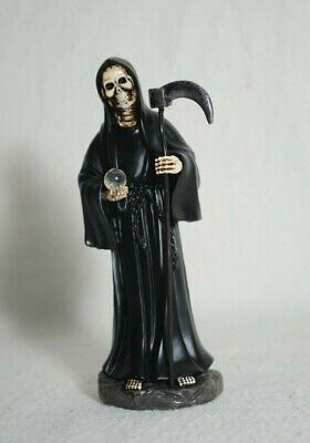 "La Santa Muerte 5"" Grim Reaper Death Color Black-Skull, Skeleton-Decoration"