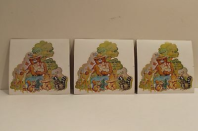SMOKEY THE BEAR AND FRIEND'S STICKER DECAL LOT OF 3 NOS