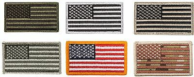 USA American Flag Six Patch Bundle Pack - 6 Hook Back Tactical Morale Patches