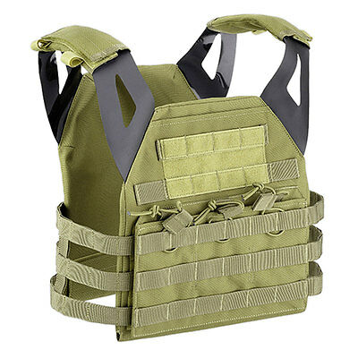 Endurance Jumpable Military Tactical Airsoft MOLLE Armour Plate Carrier Green