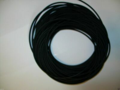 "100 Continuous Feet 1/16"" I.D x 1/32""w x 1/8"" O.D Latex Rubber Tubing Black"