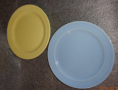 fine lot 5 old pieces Lu-Ray pastel blue yellow china