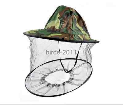Mosquito Cap Fly bee Insect Bucket Hat Folding Ventilated Fishing Camping cap