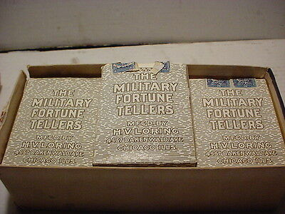 ~VERY RARE~CIRCA AUGUST 1894~  VINTAGE FORTUNE TELLING MILITARY CARDS, SEALED F