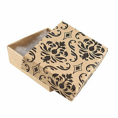 50 DAMASK JEWELLERY GIFT CARD BOXES 53 x 44 x 18mm WITH WADDING