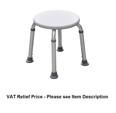 Round Shower Stool - Ideal For Use In Shower & Around The Home - Mobility Aid