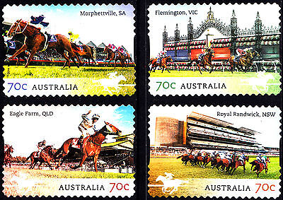 Australia 2014 Australian Racehorses Complete Set of Stamps P Used Unfranked
