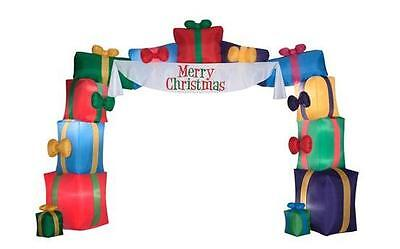 16' x 12' AIRBLOWN MERRY CHRISTMAS GIFT BOX ARCHWAY LIT INFLATABLE PRESENT GEMMY