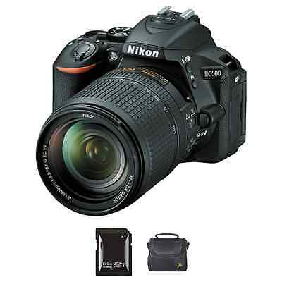 Nikon D5500 DSLR Camera w/18-140mm Lens + 64GB & Case
