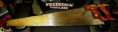 """Vintage Henry  DISSTON D-23  26""""  8PT CROSSCUT SAW with Logo"""