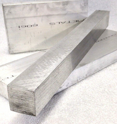"(10) 1/2"" X 3/8"" X 2"" 6061 T6511 ALUMINUM FLAT BAR Mill Stock Plate .500 .375"