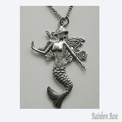Chain Necklace #333 Pewter MERMAID (42mm x 30mm)
