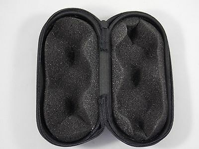 "5"" Black Padded Pouch Hard Case Protective For Glass Pipe Storage Zipper Travel"