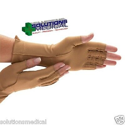 Isotoner Closed Full Finger Therapeutic Compression Support Glove Small Lefthand