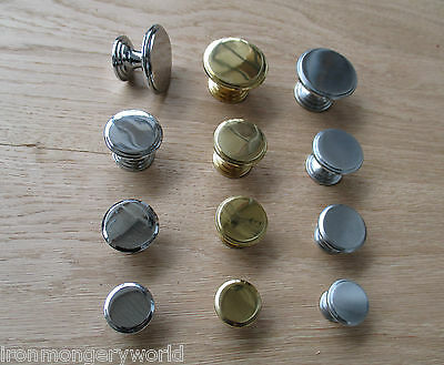 Flat Top Rimmed Base Solid Brass Construction Cabinet Door Cupboard Drawer Knobs