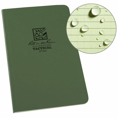 Rite in the Rain 980 Waterproof Paper Notepad Tactical Field Book Notebook Green