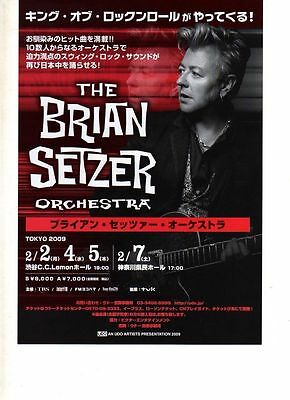 Japanese Promotional  Flyer - For - The Brian Setzer Orchestra - 2009