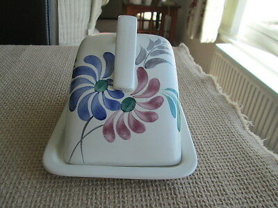 Large Handpainted Butter / Cheese Dish   By  Radford England