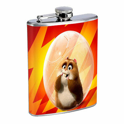 Hamster Flask D1 8oz Stainless Steel Cute Fluffy Adorable Dancing Small Animal