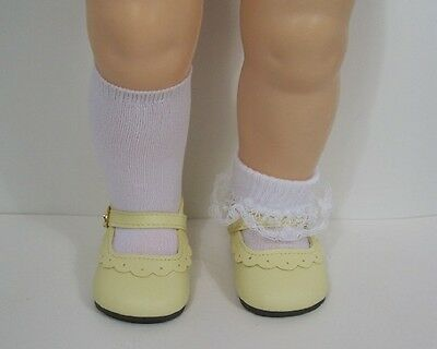 """Addie Doll Shoes 33mm YELLOW Heart Cut custom for 6/"""" Kelly 8/"""" Lil Innocent"""