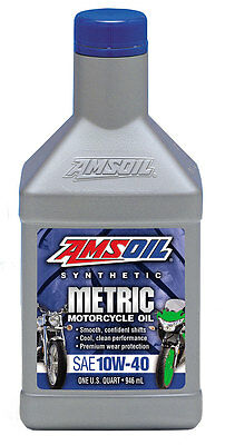 AMSOil 10W40 Synthetic Metric Motorcycle Oil MCF