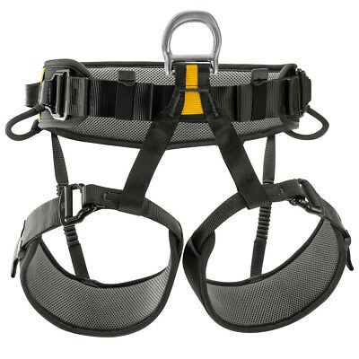 Petzl Falcon Climbing Harness Black - Lightweight Seat Rescue    Size 1 or 2