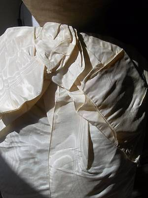 Huge antique French 1880s watered silk - moiree - bustle ribbon dress bow