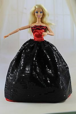 New Fashion Long Princess Dress/Gown Clothe For Barbie Doll kid's Gift  6