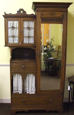 Antique Victorian Arts And Crafts Wardrobe