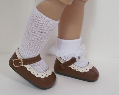 "Debs WHITE Faux Fur Boots SM Doll Shoes For Sonja Hartmann 18/"" Kidz n Cats"