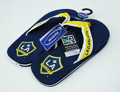 Los Angeles LA Galaxy NEW Contour Flip Flops MLS Soccer Football Mens 10-11
